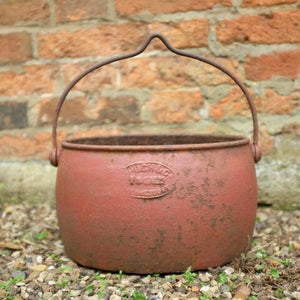 Vintage Red Iron Planter