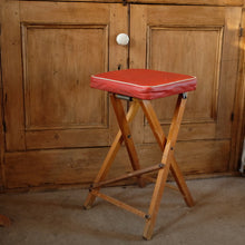 Load image into Gallery viewer, Vintage Wooden Folding Stool