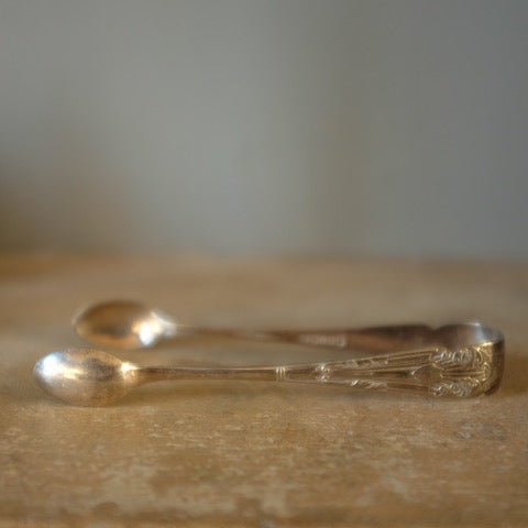 Vintage Silver Plated Sugar Tongs - 1
