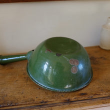 Load image into Gallery viewer, Vintage Green Enamel Mash Pan