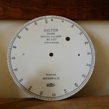 Load image into Gallery viewer, Vintage Large Enamel Salter Dial From Weighing Scales