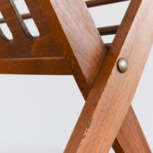 Load image into Gallery viewer, Vintage Mid 20th Century Wooden Folding Magazine Rack