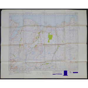 War Office Vintage OS Map - Scotland - Tongue