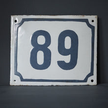 Load image into Gallery viewer, Vintage Metal Signs with Block Numbering