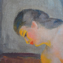 Load image into Gallery viewer, Mid-century, Paris Oil Painting, 'La Baigneuse'