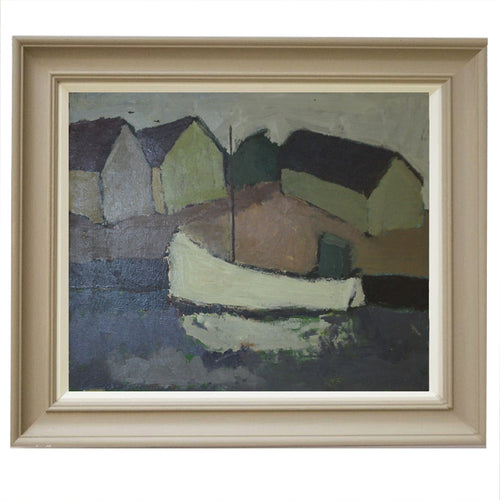 Mid Century Oil Painting 'Sailboat'