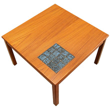 Load image into Gallery viewer, Mid Century Teak Danish Coffee Table with Blue Tile