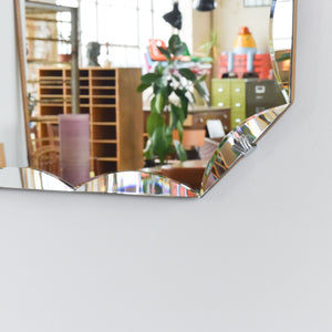 Vintage Octagon Frameless Bevelled Mirror
