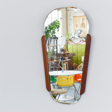 Load image into Gallery viewer, Vintage 1960s Small Teak Wall Mirror