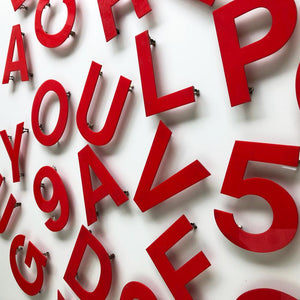 Medium Red Cinema Letters/Numbers Type1