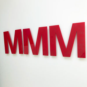 M - Medium Red Cinema Letter Type2