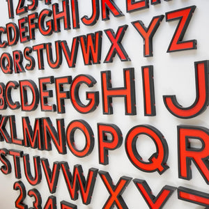 Medium Vintage Cinema Numbers Midcentury Red/Black