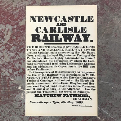 Newcastle and Carlisle railway print