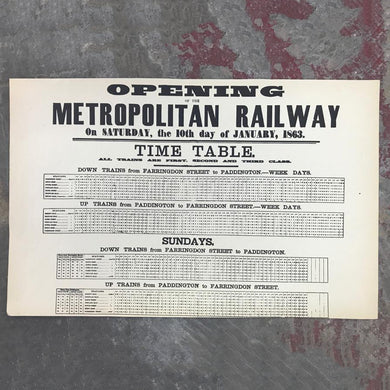 Opening of the Metropolitan Railway print