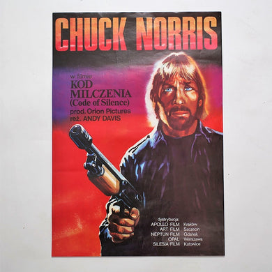 Vintage 80s Polish Chuck Norris Movie Poster