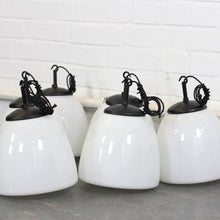 Load image into Gallery viewer, Czech Opaline Pendant Lights Circa 1940s