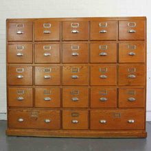 Load image into Gallery viewer, 1930s Large Bank Of French Art Deco Filing Drawers