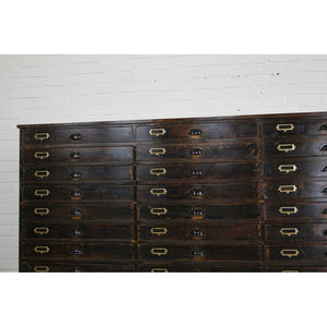 Large Bank Of Industrial Drawers