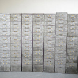British Government Steel Filing Drawers Circa 1930s