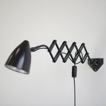 Load image into Gallery viewer, Petite Wall Mounted Scissor Lamp By Hala Circa 1940s
