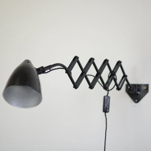 Petite Wall Mounted Scissor Lamp By Hala Circa 1940s