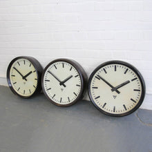 Load image into Gallery viewer, 1950s Large 50cm Bakelite Clocks By Pragotron