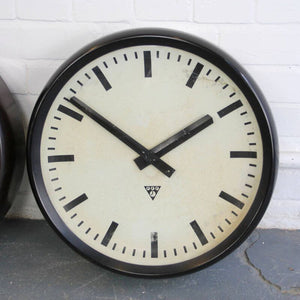 1950s Large 50cm Bakelite Clocks By Pragotron