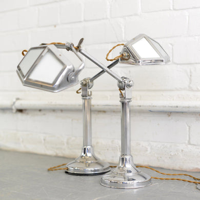 ART DECO DESK LAMPS BY PIROUETTE CIRCA 1930