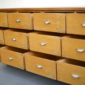 Dutch Light Oak Bank Of Drawers Circa 1940s