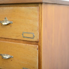Load image into Gallery viewer, Dutch Light Oak Bank Of Drawers Circa 1940s