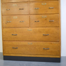 Load image into Gallery viewer, Dutch Light Oak Filing Drawers Circa 1940s