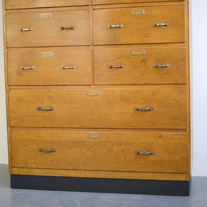 Dutch Light Oak Filing Drawers Circa 1940s