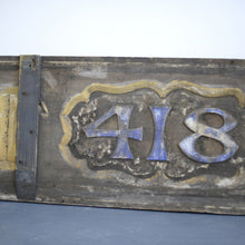 Load image into Gallery viewer, Large V Cut Gold Gilt London Shop Sign Circa 1840