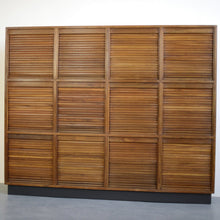 Load image into Gallery viewer, Mid Century Tambour Fronted Cabinet Circa 1950s