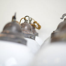 Load image into Gallery viewer, Opaline Globe Pendant Lights Circa 1930s