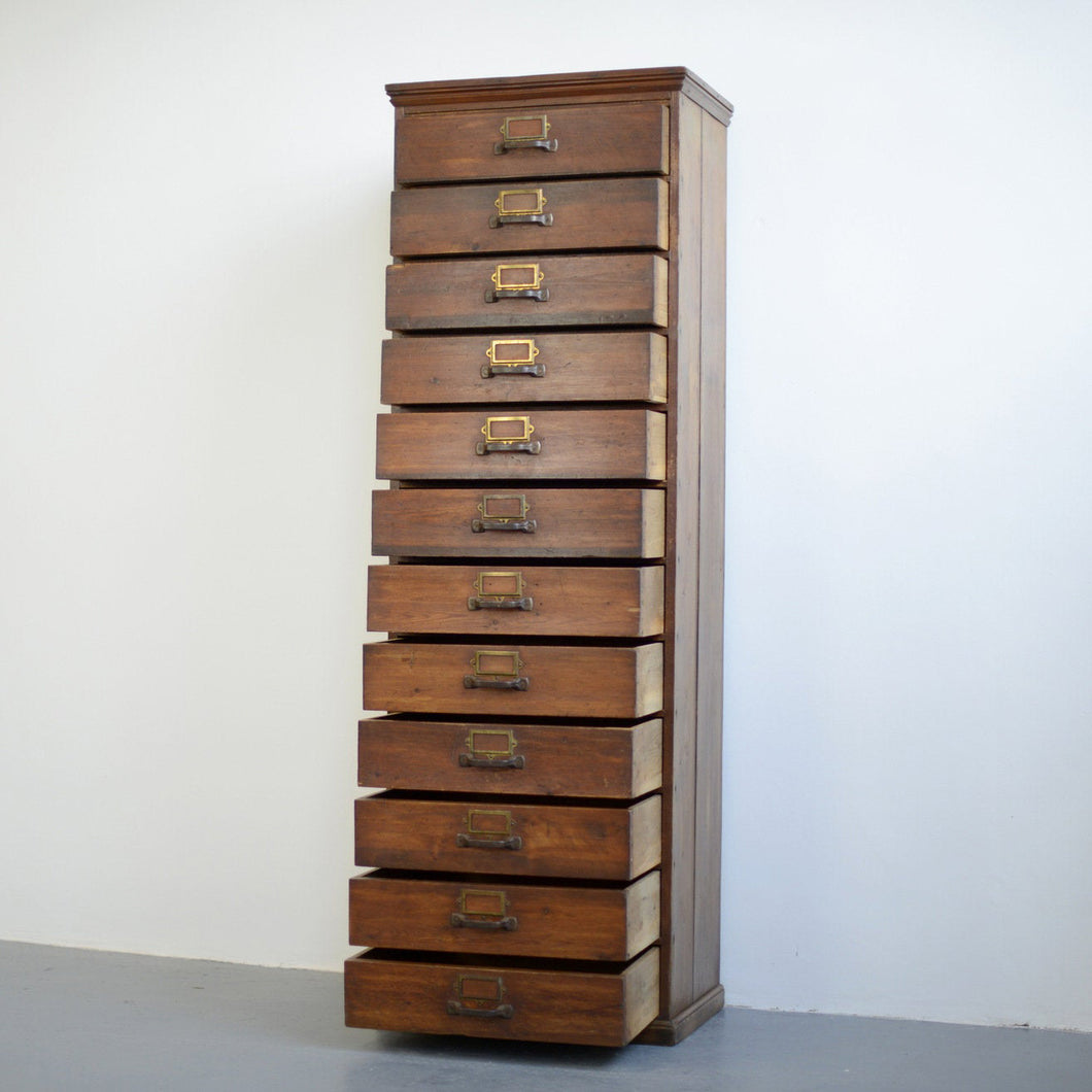 Tall Pine Workshop Drawers Circa 1930s