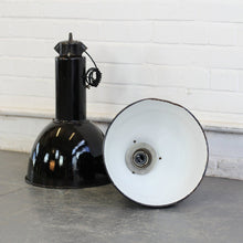 Load image into Gallery viewer, Bauhaus Industrial Pendant Lights Circa 1930s