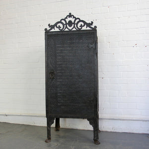Gothic Revival Blacksmith Made Smoke Cabinet Circa 1880