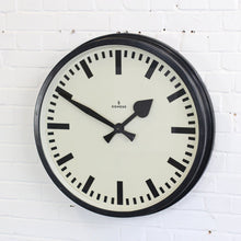 Load image into Gallery viewer, Large Factory Clock By Siemens Circa 1940s