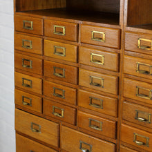 Load image into Gallery viewer, Oak Haberdashery Cabinet Circa 1930s