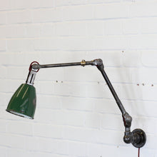 Load image into Gallery viewer, Wall Mounted Industrial Task Lamp By Dugdills Circa 1940s