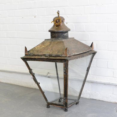 Early 20th Century English Copper Lantern Circa 1900