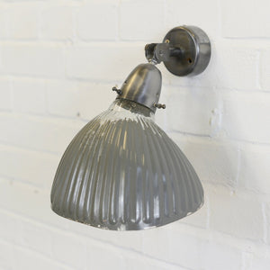 Wall Mounted Light Grey Mercury Glass Lights 1930s