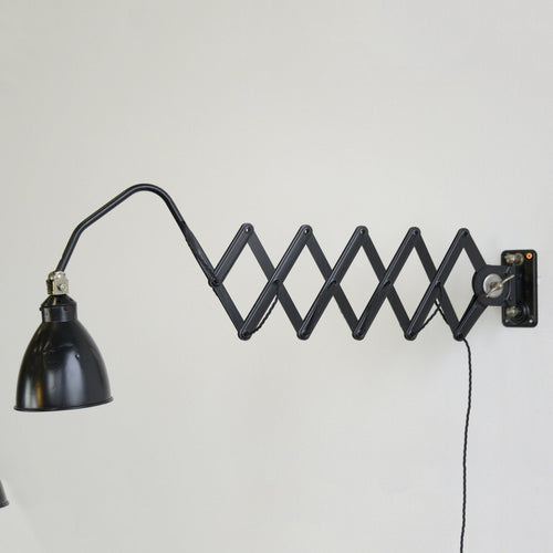 Wall Mounted Industrial Scissor Lamp By AGI Circa 1930s