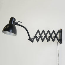 Load image into Gallery viewer, Wall Mounted Italian Scissor Lamp By Raptek Circa 1940s