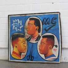 Load image into Gallery viewer, Hand Painted African Barbers Sign Circa 1950s-B