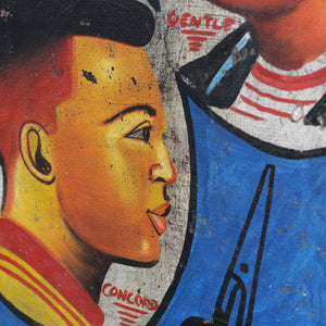 Hand Painted African Barbers Sign Circa 1950s-B