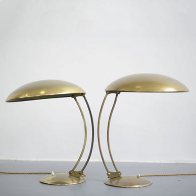 Model 6764 Brass Table Lamps By Kaiser Idell Circa 1940s