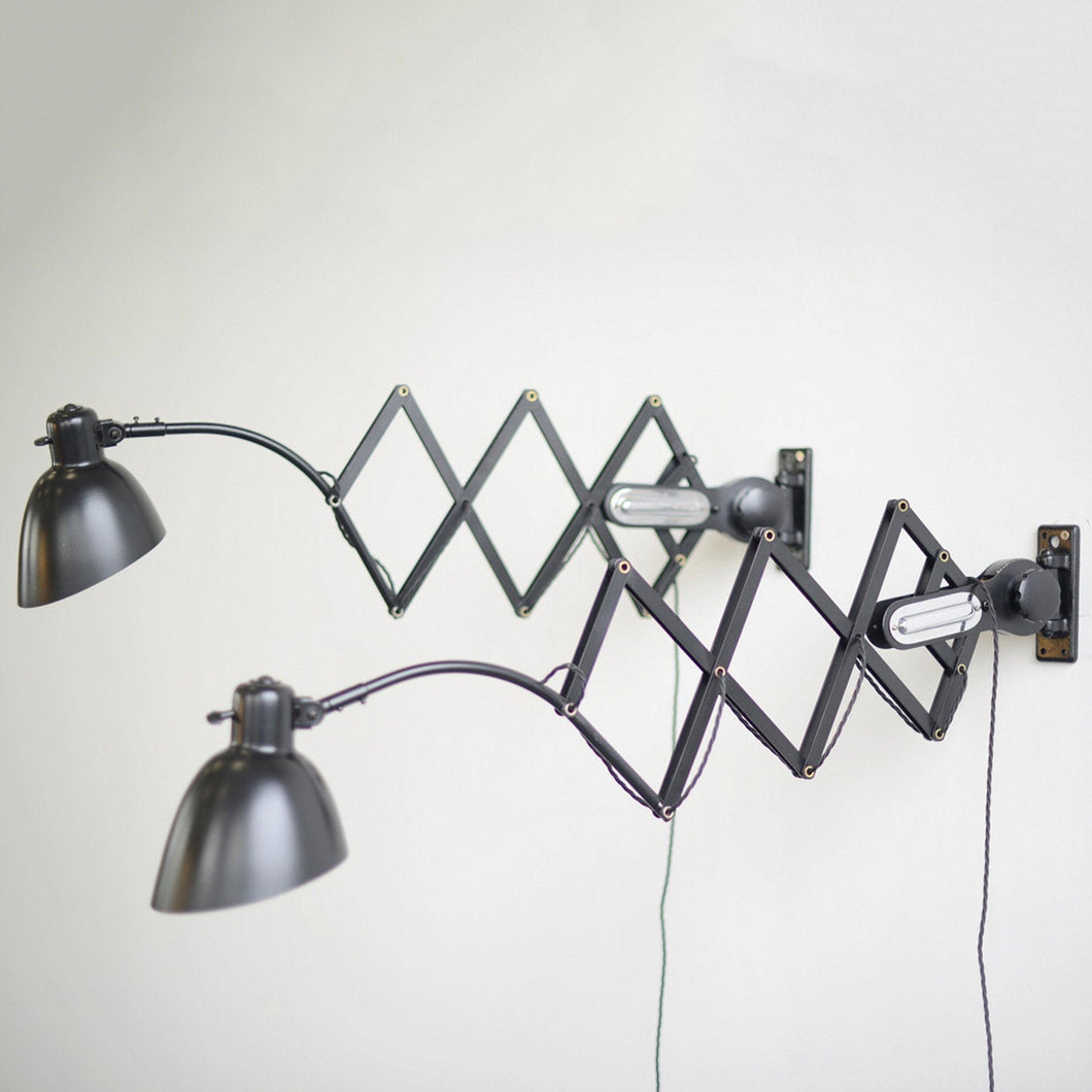 XL Scissor Lamps By Schaco Circa 1930s