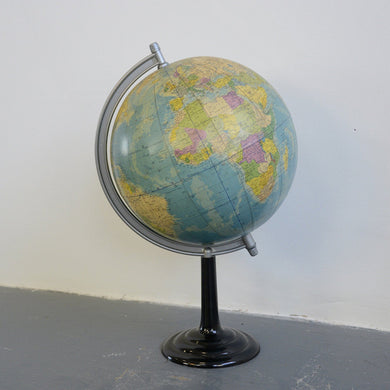 Large Mid Century German Desk Globe-1